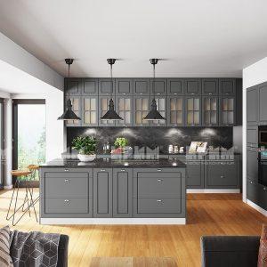 Кухня с остров Сити 966-мебелна къща Мура