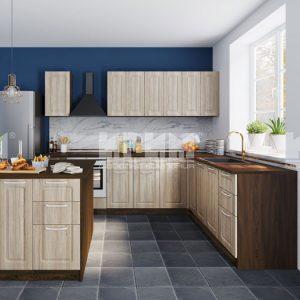 Кухня с остров Сити 936-мебелна къща Мура